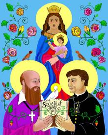 Sts. Francis de Sales and John Bosco by Br. Mickey McGrath, OSFS