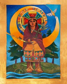 St. Kateri Tekakwitha by Br. Mickey McGrath, OSFS