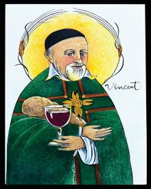 St. Vincent de Paul by Br. Mickey McGrath, OSFS