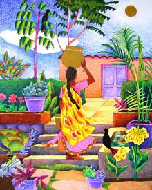 Woman at the Well by Br. Mickey McGrath, OSFS