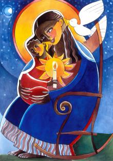 Mary, Seat of Wisdom by Br. Mickey McGrath, OSFS
