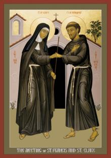 The Meeting of Sts. Francis and Clare by Br. Robert Lentz, OFM
