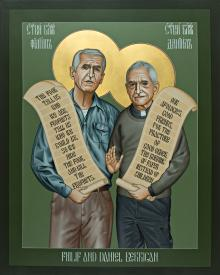 Philip and Daniel Berrigan by Br. R. Lentz, OFM
