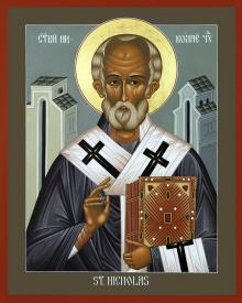 St. Nicholas of Myra by Br. Robert Lentz, OFM
