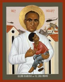 St. Oscar Romero of El Salvador by Br. Robert Lentz, OFM