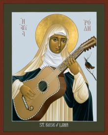 St. Rose of Lima by Br. Robert Lentz, OFM
