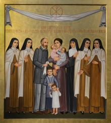 Sts. Louis and Zélie Martin with St. Thérèse of Lisieux and Siblings by Paolo Orlando