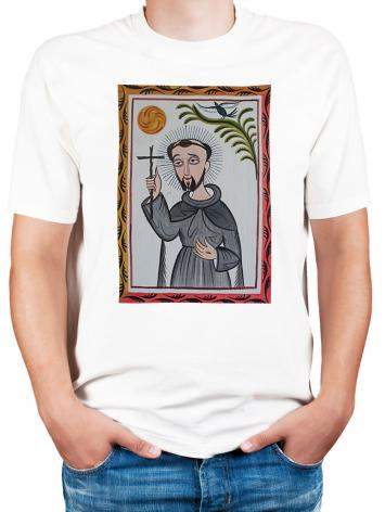 Adult T-shirt - St. Francis of Assisi by A. Olivas