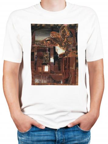 Adult T-shirt - Eagle Hovers Over Ruins by B. Gilroy