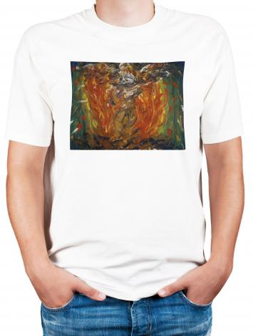 Adult T-shirt - Eagle in Fire That Does Not Burn by B. Gilroy