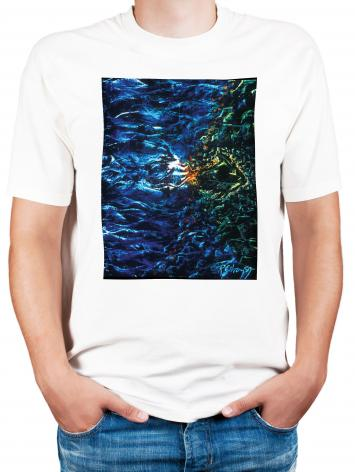 Adult T-shirt - Fish Fossil by B. Gilroy