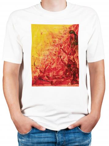 Adult T-shirt - Figures In Flames by B. Gilroy
