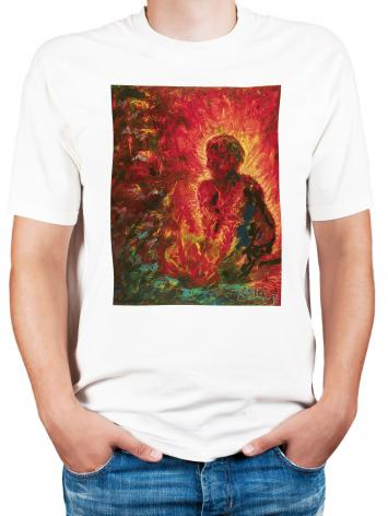 Adult T-shirt - Tending The Fire by B. Gilroy