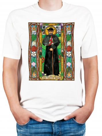 Adult T-shirt - St. Damien of Molokai by B. Nippert