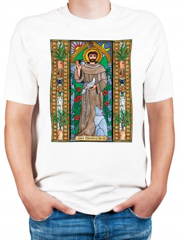 Adult T-shirt - St. Francis of Assisi by B. Nippert
