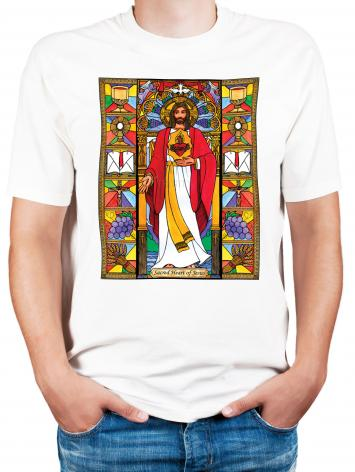 Adult T-shirt - Sacred Heart of Jesus by B. Nippert