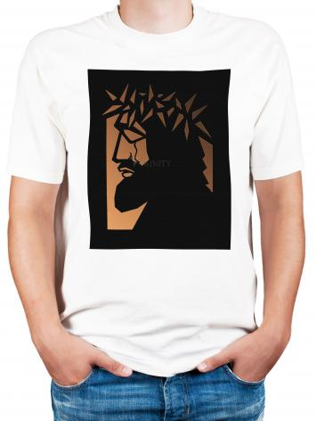 Adult T-shirt - Christ Hailed as King - Brown Glass by D. Paulos