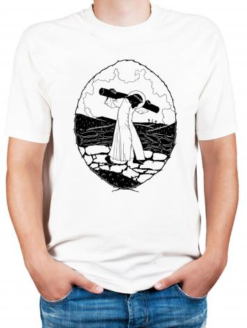 Adult T-shirt - Carrying of the Cross - background view by D. Paulos
