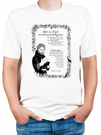 Adult T-shirt - Prayer of St. Francis by D. Paulos