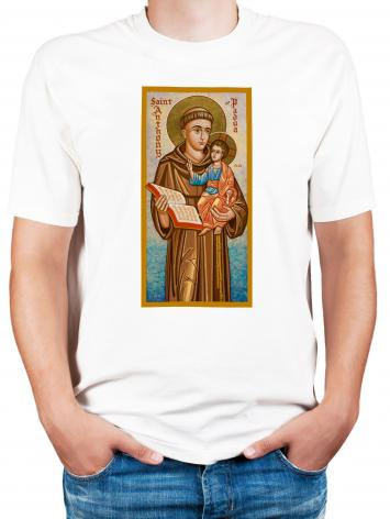 Adult T-shirt - St. Anthony of Padua by J. Cole