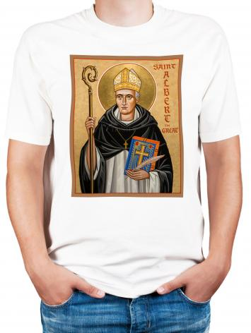 Adult T-shirt - St. Albert the Great by J. Cole