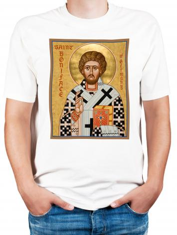 Adult T-shirt - St. Boniface of Germany by J. Cole