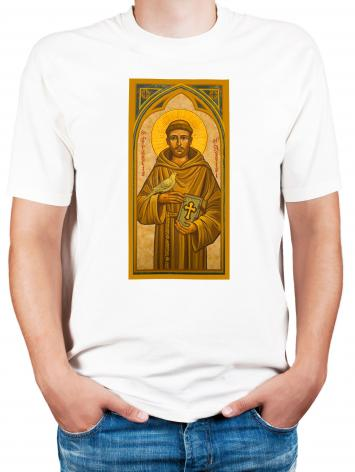 Adult T-shirt - St. Francis of Assisi by J. Cole