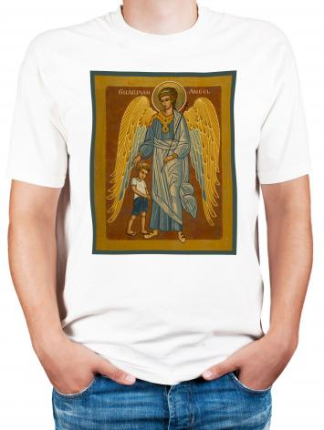 Adult T-shirt - Guardian Angel with Boy by J. Cole