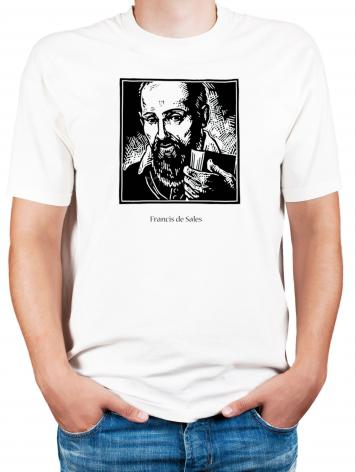 Adult T-shirt - St. Francis de Sales by J. Lonneman