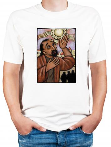 Adult T-shirt - Lent, 4th Sunday - Healing of the Blind Man by J. Lonneman