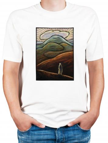 Adult T-shirt - Lent, 1st Sunday - Jesus in the Desert by J. Lonneman
