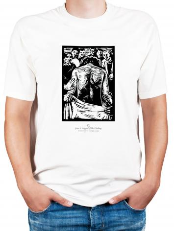 Adult T-shirt - Women's Stations of the Cross 09 - Jesus is Stripped of His Clothing by J. Lonneman