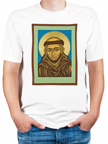 Adult T-shirt - St. Francis of Assisi by L. Williams