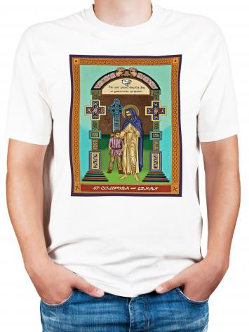 Adult T-shirt - St. Columba and Ernan by L. Williams