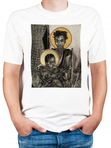 Adult T-shirt - Christmas Madonna - Haiti by L. Williams