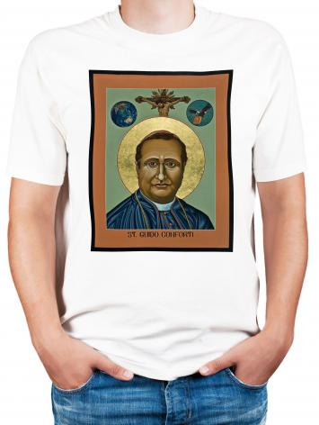 Adult T-shirt - St. Guido Maria Conforti by L. Williams