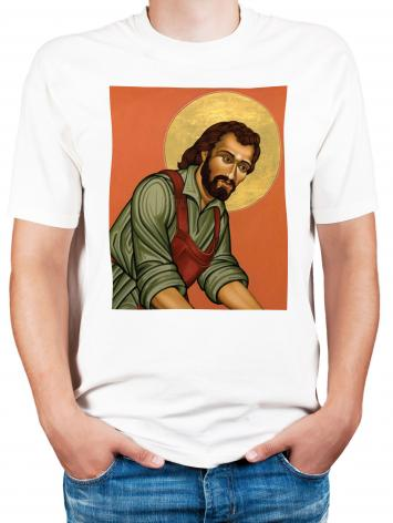 Adult T-shirt - St. Joseph the Worker by L. Williams