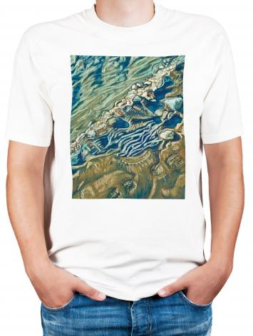 Adult T-shirt - Shoe Prints on the Bank by L. Williams