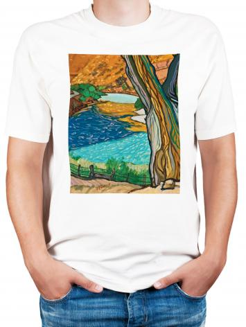 Adult T-shirt - Tree In Eden by L. Williams