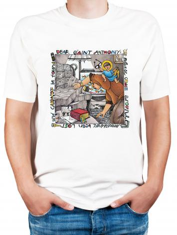 Adult T-shirt - St. Anthony of Padua by M. McGrath