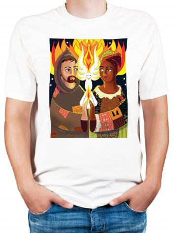 Adult T-shirt - St. Francis of Assisi: Br. Sun, Sr. Thea by M. McGrath