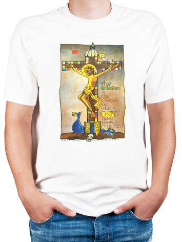Adult T-shirt - Church Cross by M. McGrath