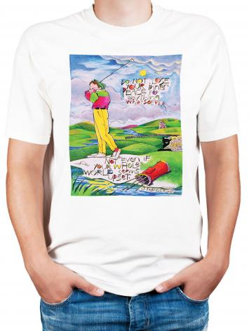Adult T-shirt - Golfer: Do Not Lose Your Inner Peace by M. McGrath