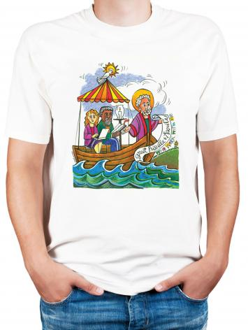 Adult T-shirt - St. Paul: Greet Sts. Priscilla and Aquila by M. McGrath