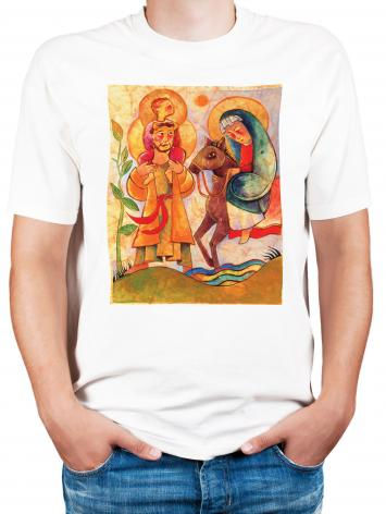 Adult T-shirt - Holy Family: Giotto by M. McGrath