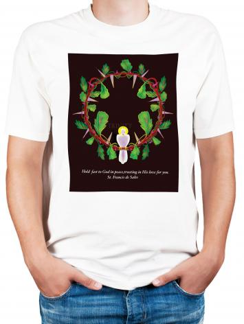 Adult T-shirt - Hold Fast to God by M. McGrath