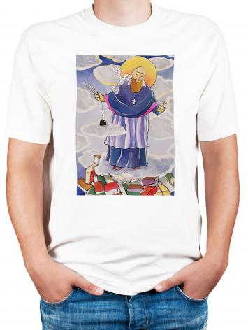 Adult T-shirt - St. Francis de Sales, Patron of Writers by M. McGrath
