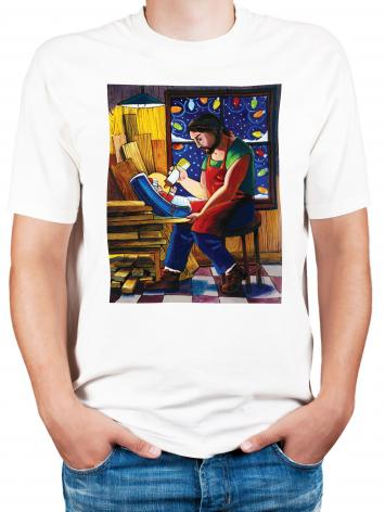 Adult T-shirt - St. Joseph and Son's Christmas by M. McGrath