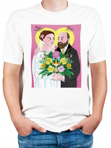 Adult T-shirt - Sts. Zélie and Louis Martin by M. McGrath