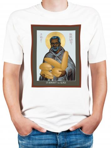 Adult T-shirt - St. Benedict the Black by R. Lentz